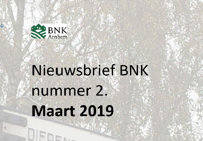 Nieuwsbrief BNK Nr. 2 , maart 2019 is verschenen!