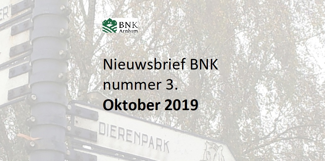 Nieuwsbrief BNK Nr. 3, oktober 2019 is verschenen !