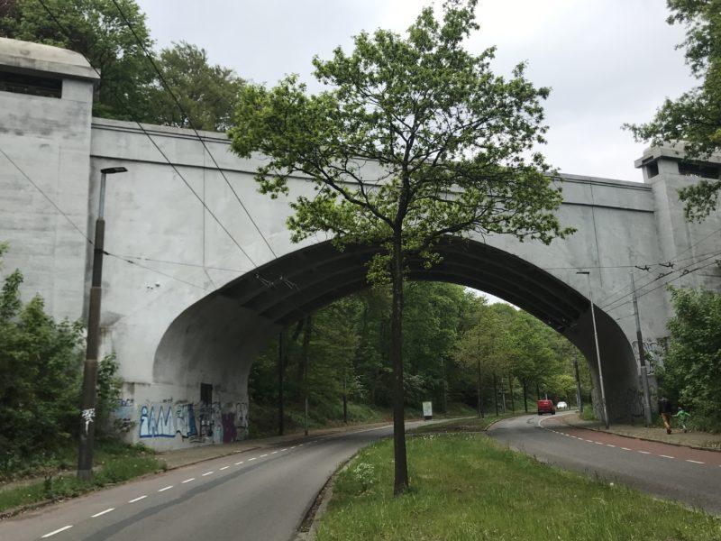 Vangnet aan viaduct over de Cattepoelseweg?  Vergunning aangevraagd.